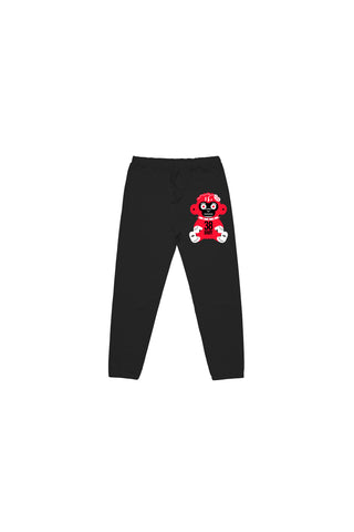Red 38 Baby Monkey Joggers - Black