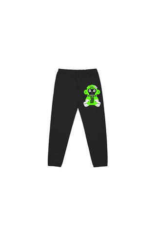Kids Green 38 Baby Monkey Joggers - Black