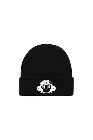 Monkey Head Beanie - Black
