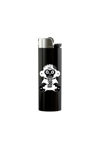 White Monkey Lighter - Black