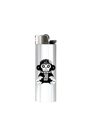 Black Monkey Lighter - White