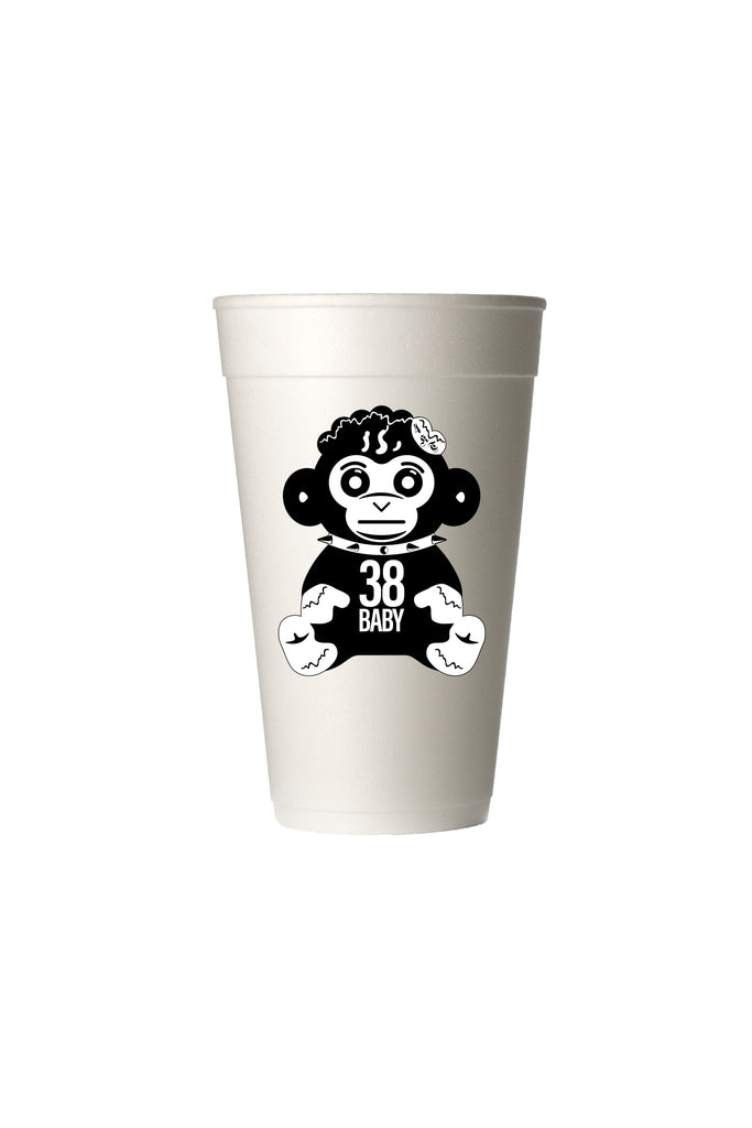 Black Monkey Styrofoam Cup - 6 pack