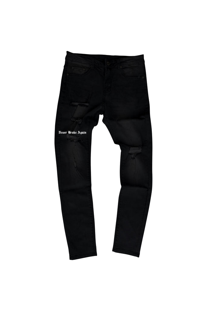 OE Black Denim Pant - Black