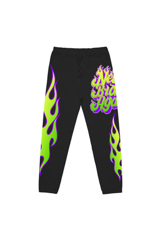 NBA Flames Joggers - Black