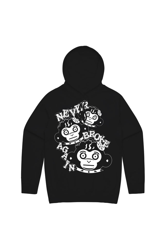 3 Monkeys Hoody - Black