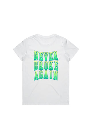 Green Machine T-Shirt Woman's - White