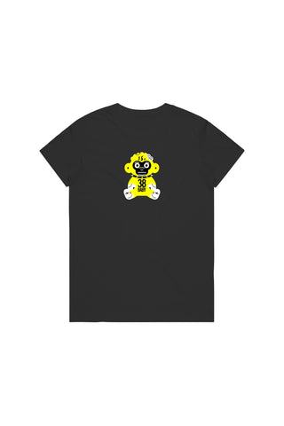 Yellow 38 Baby Monkey T-Shirt Woman's - Black
