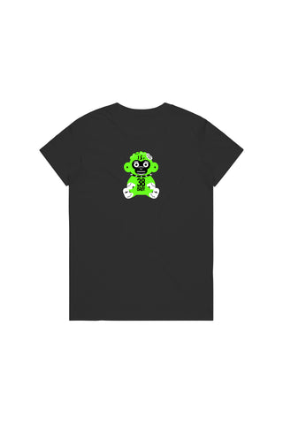 Green 38 Baby Monkey T-Shirt Woman's - Black