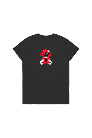 Red 38 Baby Monkey T-Shirt Woman's - Black