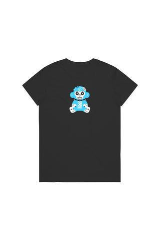 Blue 38 Baby Monkey T-Shirt Woman's - Black
