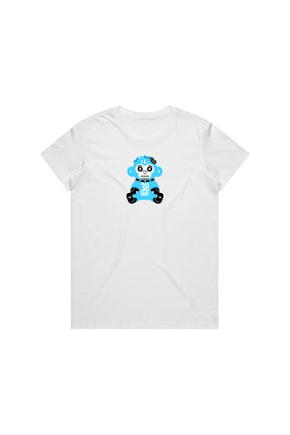 Blue 38 Baby Monkey T-Shirt Woman's - White