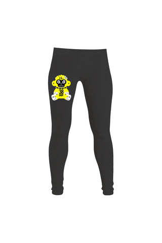 Yellow 38 Baby Monkey Leggings - Black