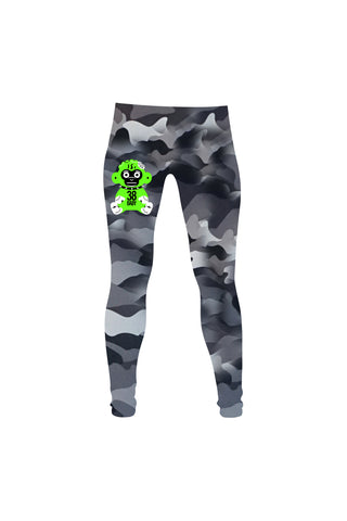 Green 38 Baby Monkey Leggings - Camo