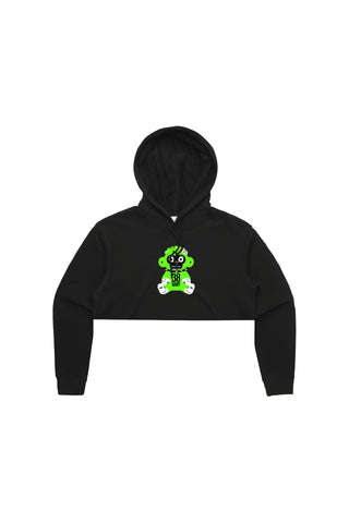 Green 38 Baby Monkey Top Hoody - Black