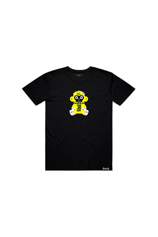 Kids Yellow 38 Baby Monkey T-shirt - Black