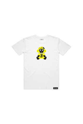 Kids Yellow 38 Baby Monkey T-shirt - White