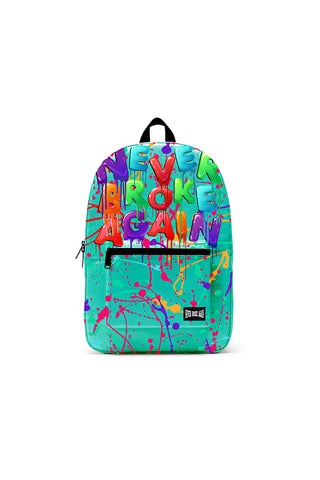 Never Broke Again Drip Backpack - Teal