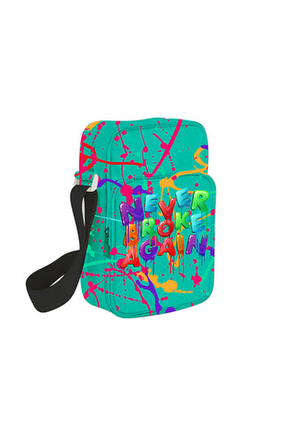 Never Broke Again Drip Man Bag - Teal