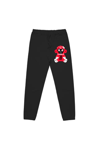 Red Monkey Joggers - Black