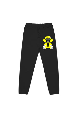 Yellow Monkey Joggers - Black