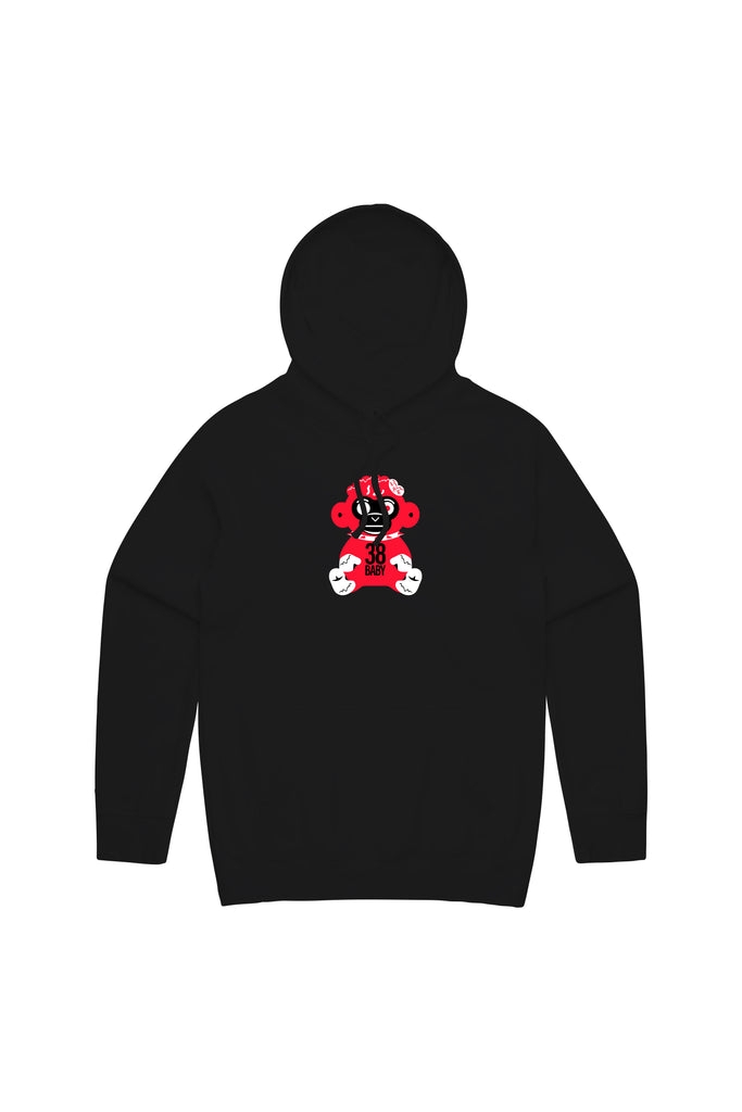 Red Monkey Hoody - Black