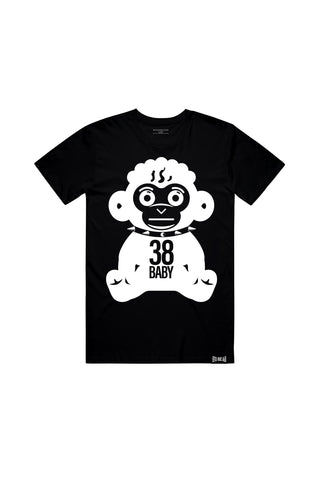 38 Monkey White - Black