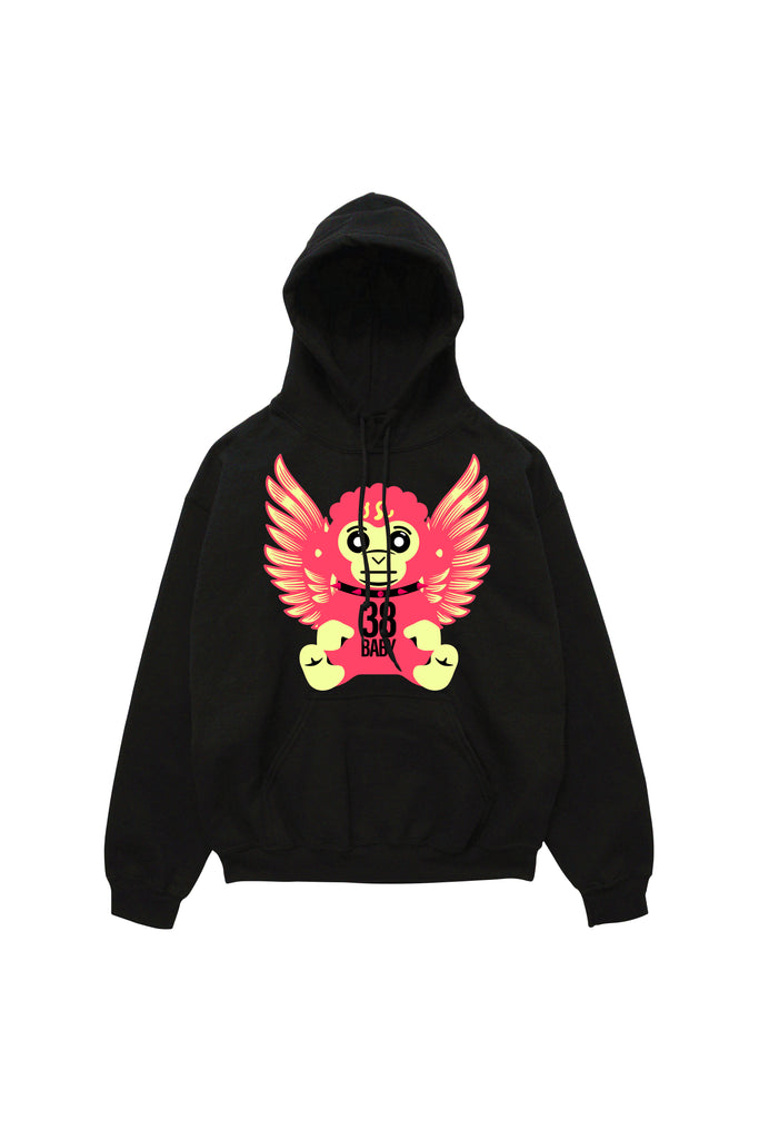 38 Baby Arch Angel Hoody - Black