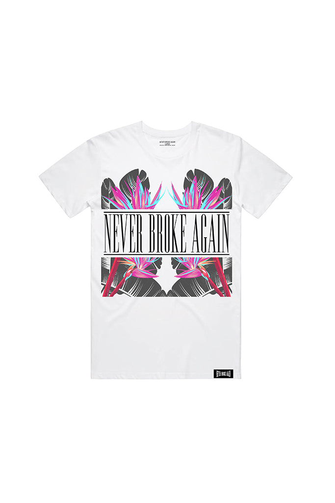 Never Broke Again Vacation T-Shirt - White