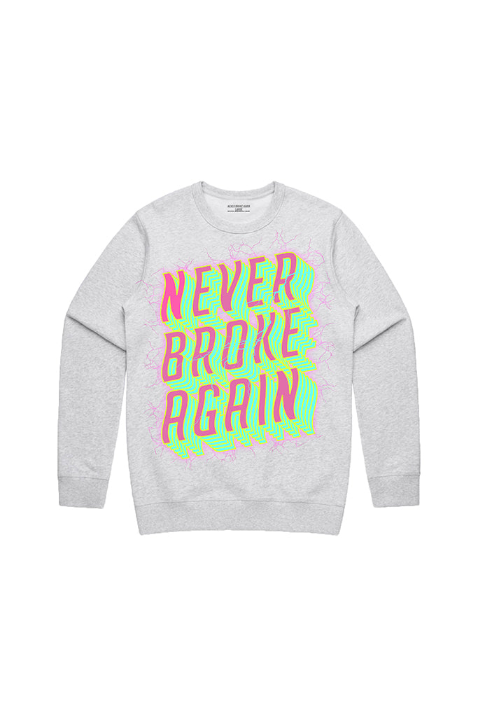 Never Broke Again Voltage Crew Neck - Grey
