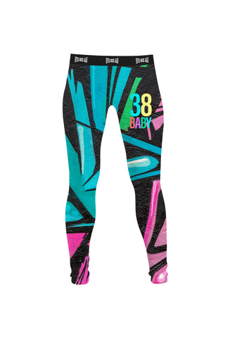 38 Baby Graffiti Leggings - Blue