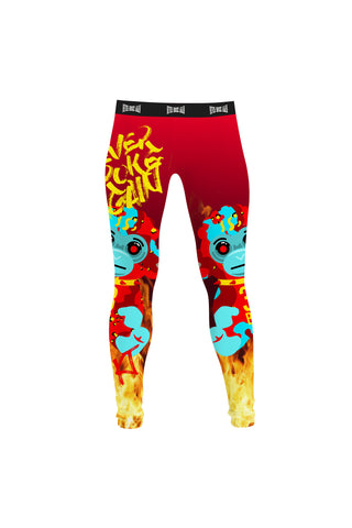 4KT Hell Monkey Leggings - Red