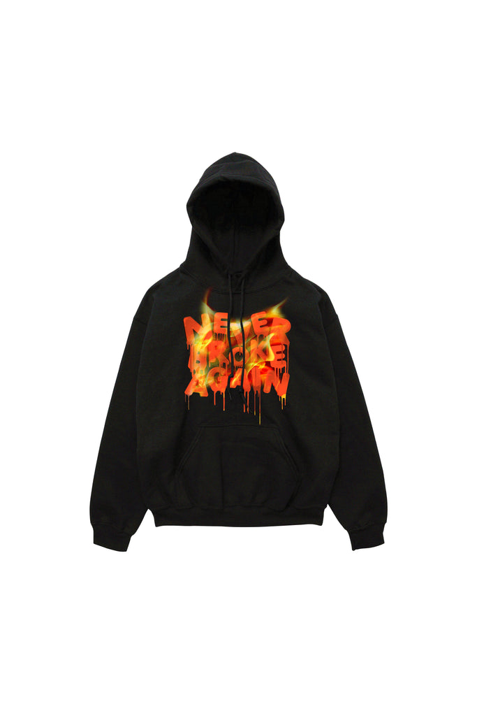 Drip Flame Hoody - Black