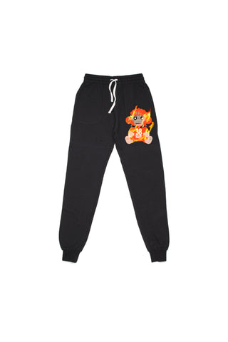 38 Baby Monkey Flame Joggers - Black