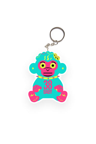 Neon 38 Baby Monkey Key Chain