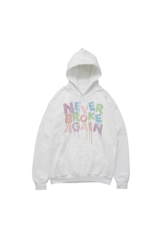 Drip COLORS RhineStone Hoody - White