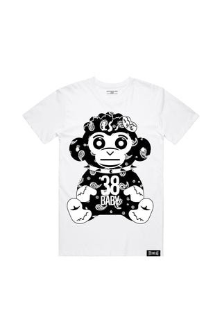 Paisley Monkey T-Shirt - White
