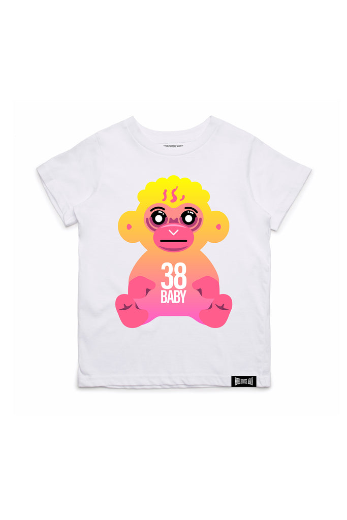 Fade Monkey Kids T-Shirt - White