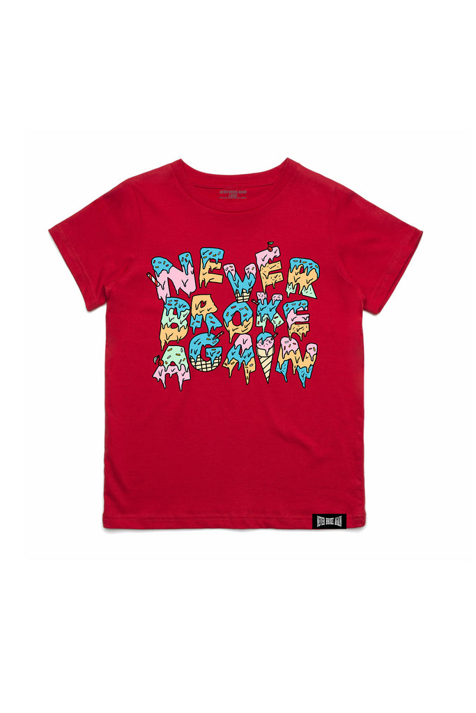 Cream Kids T-Shirt - Red
