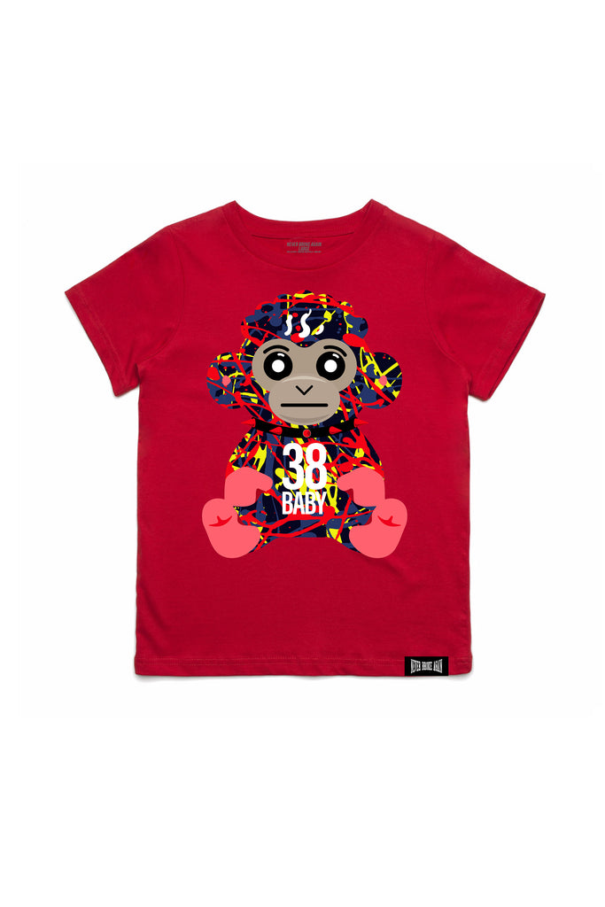 Paint Monkey Kids T-Shirt - Red