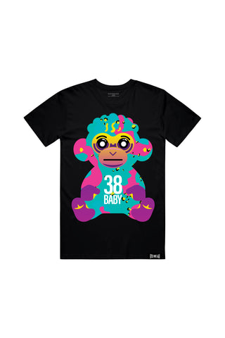 38 Baby Colorful Camo Monkey - Black