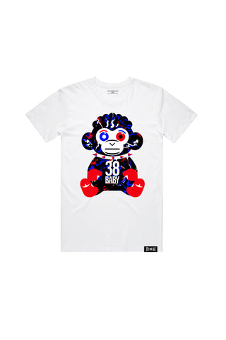 Splatter Monkey T-Shirt - White