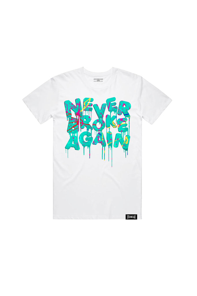 Splatter Drip T-Shirt - White