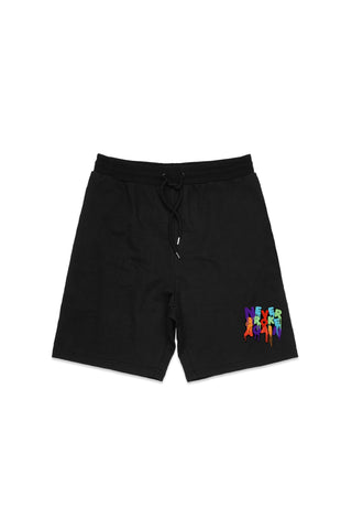 Never Broke Again Drip Patch Short - Black