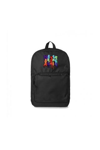 Never Broke Again Drip Patch Backpack - Black