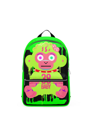 Never Broke Again Slime Monkey Backpack - Black