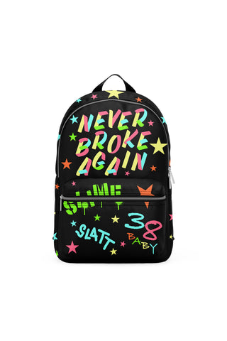 Never Broke Again Slatt Backpack - Black
