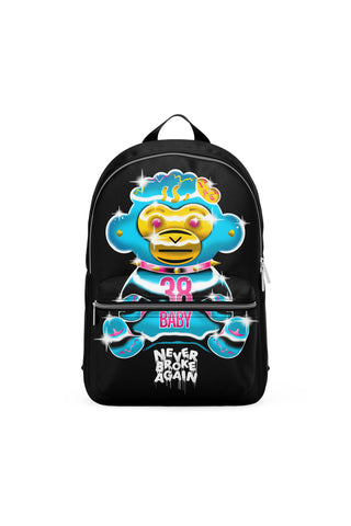 Never Broke Again Chrome Monkey Backpack - Black