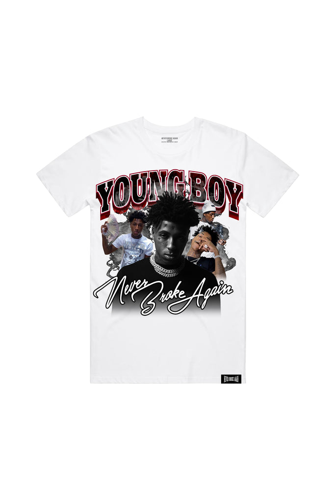 Young Boy Rapper T-Shirt - White