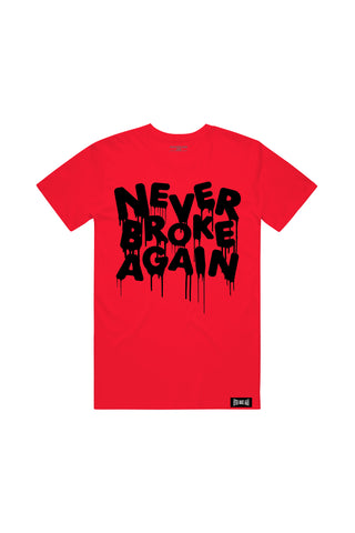 Black Drip T-Shirt - Red