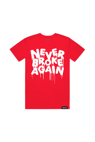 White Drip T-Shirt - Red